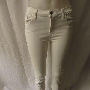 J BRAND WHITE BLANC DEST SKINNY LEG 30